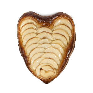 Cor de full de poma amb crema